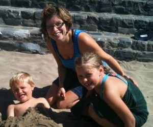 Holly Klaassen and kids