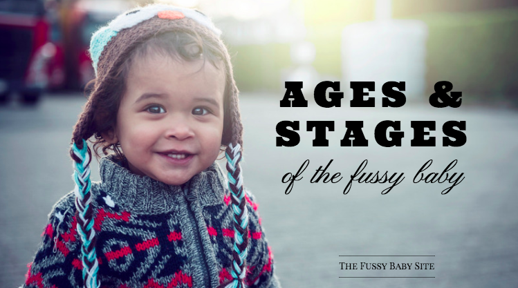 Ages and stages of the fussy baby: toddler in sweater outside