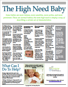 High need baby fact sheet
