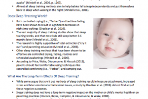 Sleep Training: Is It Safe & Effective? [Fact Sheet]